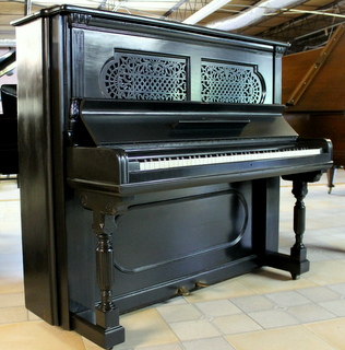 1893 Steinway Upright in Black Satin